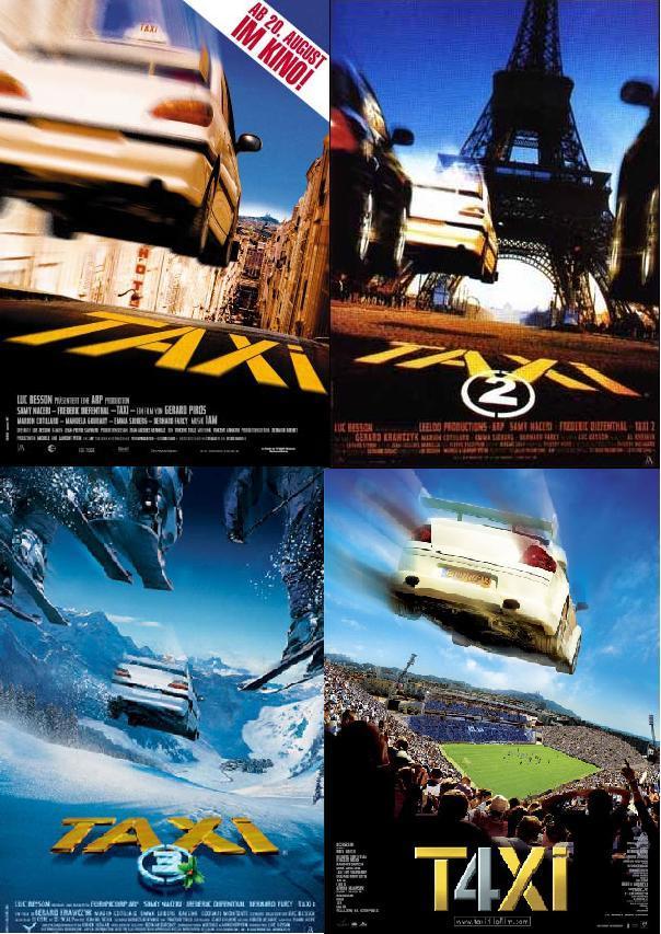 Такси / Taxi 1,2,3,4 DVDRip